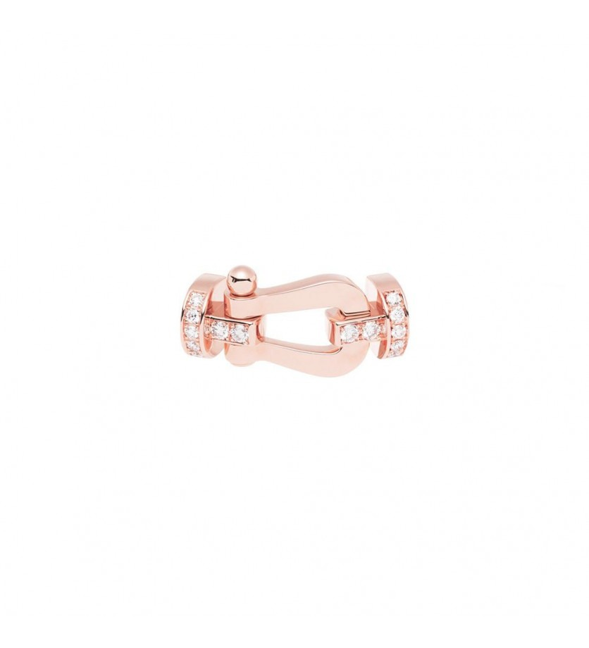 Manille Force 10 GM or rose semi pavé diamants