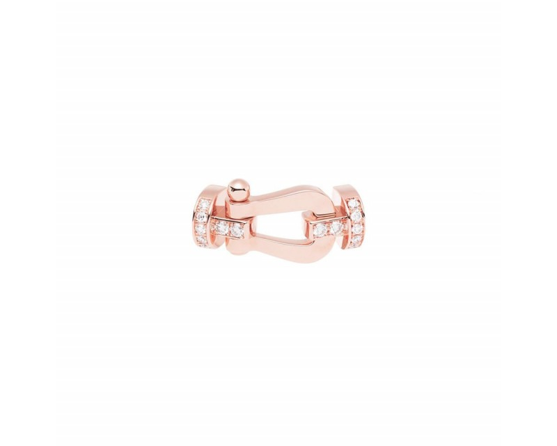 FRED Manille Force 10 GM or rose semi pavé diamants