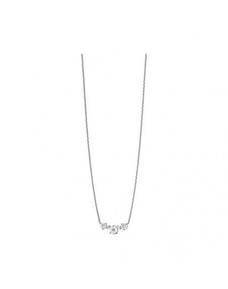 Pendentif or gris diamants 0,45ct GSI