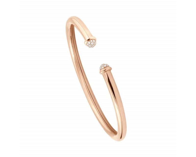 FROJO Bracelet Petit Pavé 4mm or rose diamants