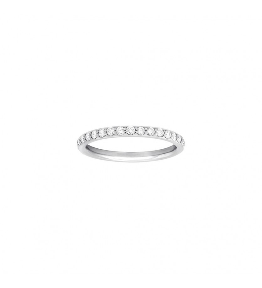 Alliance tour complet or gris diamant 0,60ct