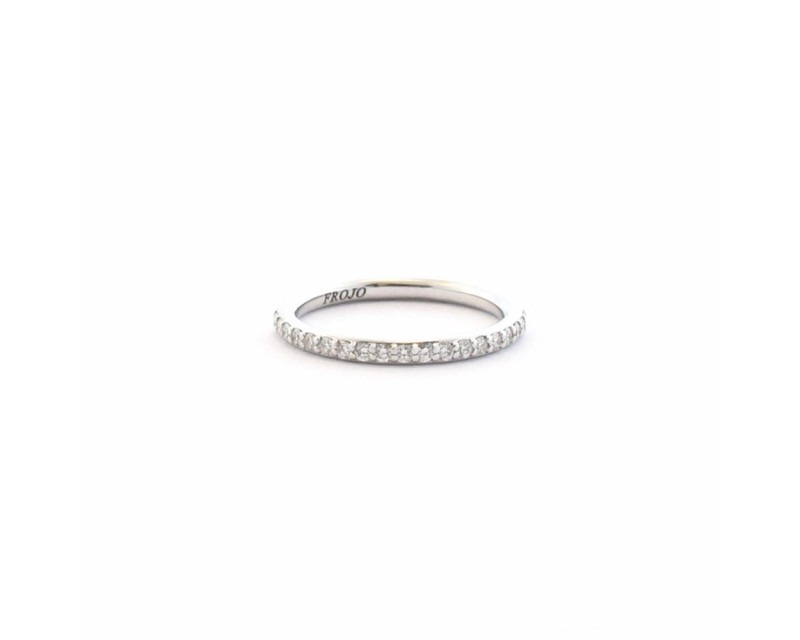 FROJO Demi alliance or gris diamants 0,30ct GSI