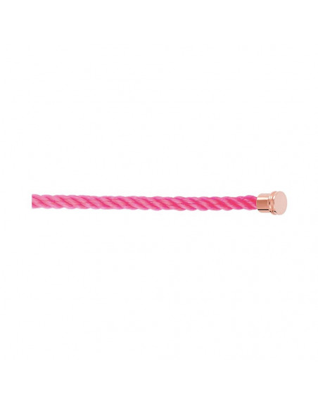 Câble Force 10 MM corderie rose fluo embouts roses
