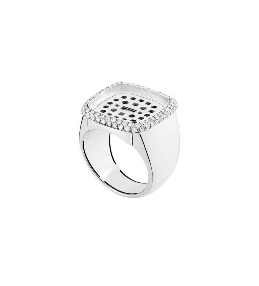 FRED Monture Pain de Sucre GM or blanc diamants