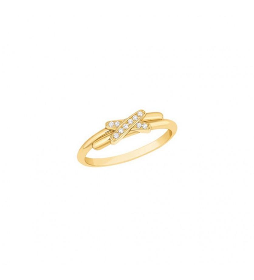 CHAUMET Bague Jeux de Liens or jaune diamants