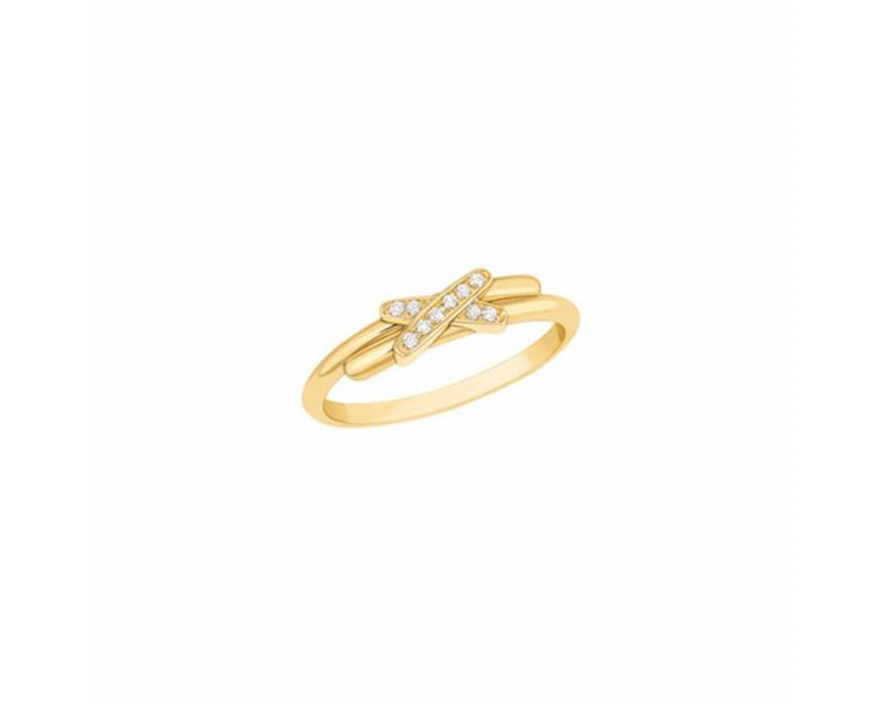 CHAUMET Bague Premiers Liens XXS or jaune diamants