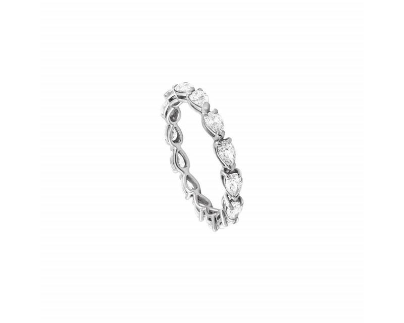 FROJO Alliance or gris tour complet diamants poires 1,40ct GSI