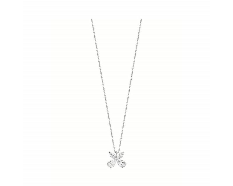 FROJO Pendentif or gris 4 diamants 1ct GVS