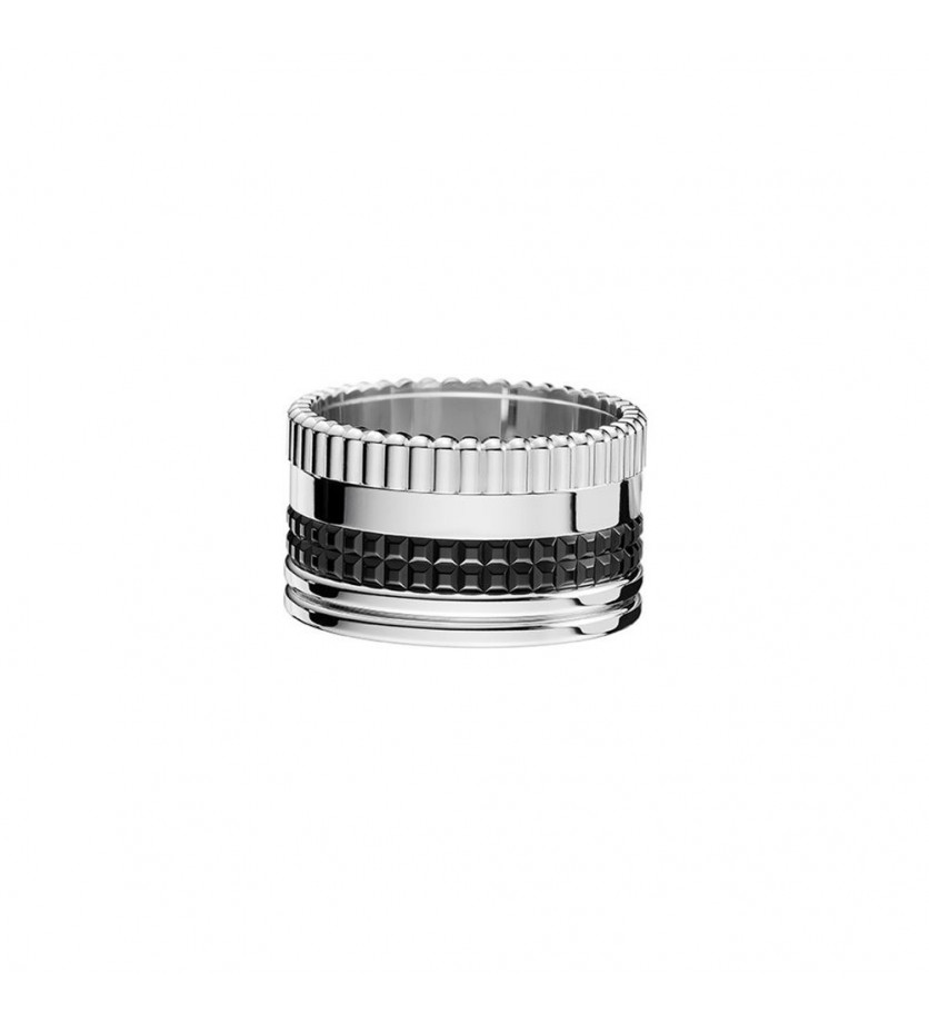 BOUCHERON Bague Quatre Black Edition GM or gris or noir