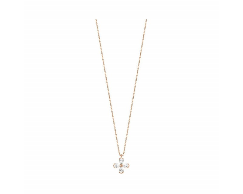 FROJO Pendentif or gris 4 diamants 0,40ct GSI
