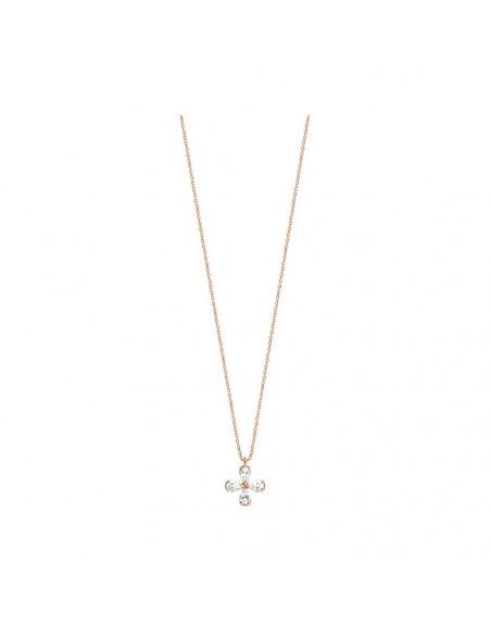 Pendentif or rose 4 diamants 0,40ct GSI