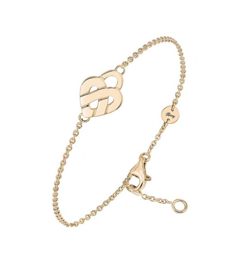 Bracelet chaîne Coeur Entrelacé mini or jaune