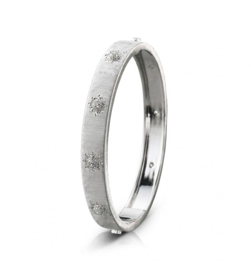 Bracelet Macri 8mm or gris diamants