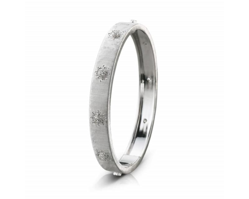 BUCCELLATI Bracelet Macri 8mm or gris diamants