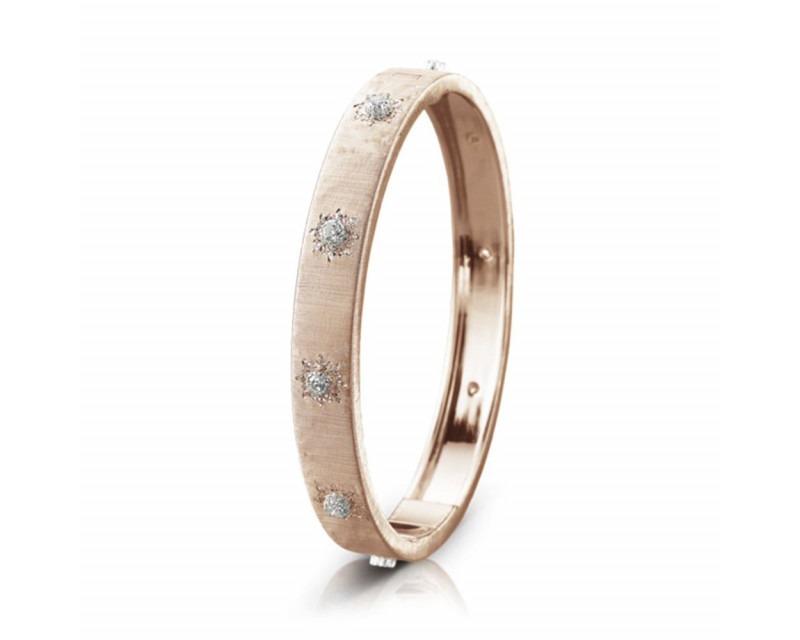 Bracelet bangle Macri 8mm or rose or gris diamants