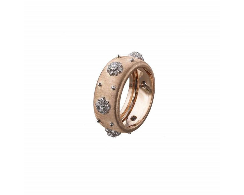 Bague Eternelle Macri or rose or gris diamants