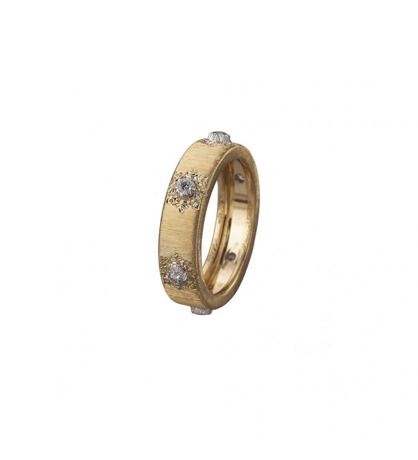 Bague Classica Eternelle or jaune 5,5mm 6 diamants