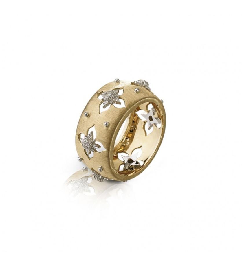 Bague Eternelle Macri Giglio or jaune 6 diamants