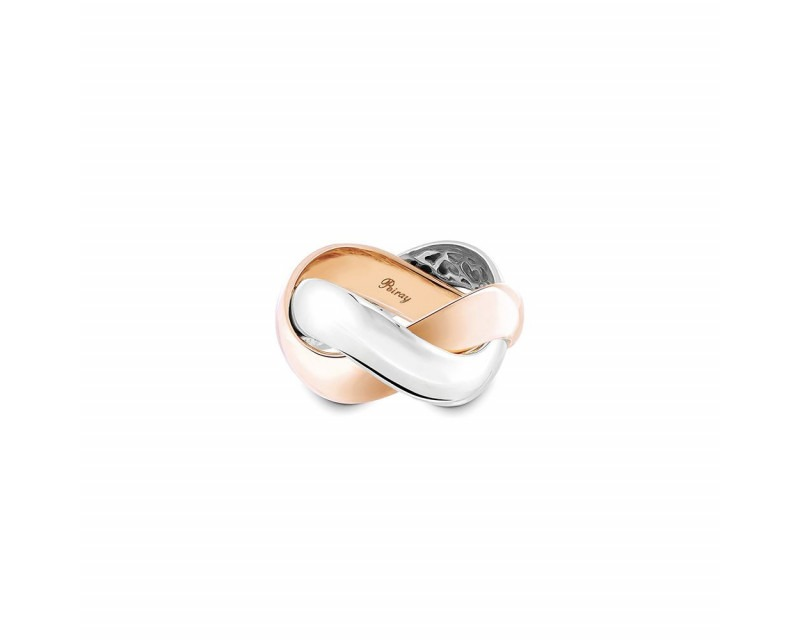 POIRAY Bague Tresse GM or rose or gris