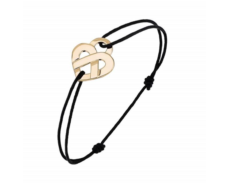 Bracelet cordon Coeur Entrelacé PM or jaune