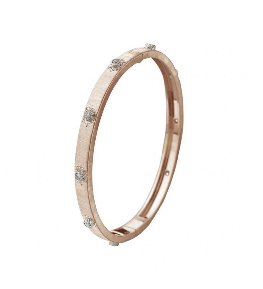 Bracelet Bangle Macri or rose or gris diamants