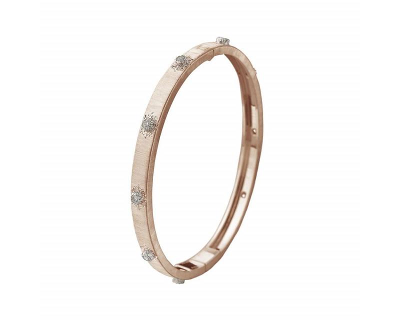 BUCCELLATI Bracelet Bangle Macri or rose or gris diamants