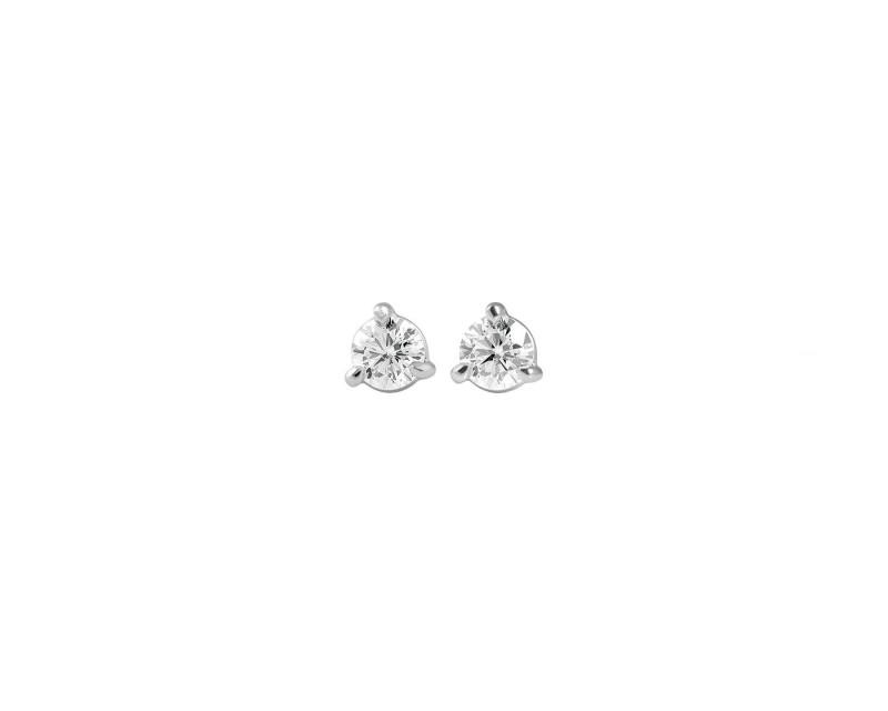 Puces d'oreille diamants or blanc