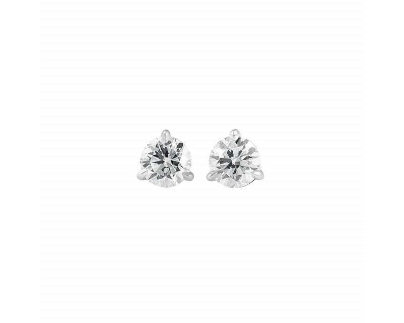 FROJO Puces d'oreille or gris diamants 0,50ct GSI 3 griffes