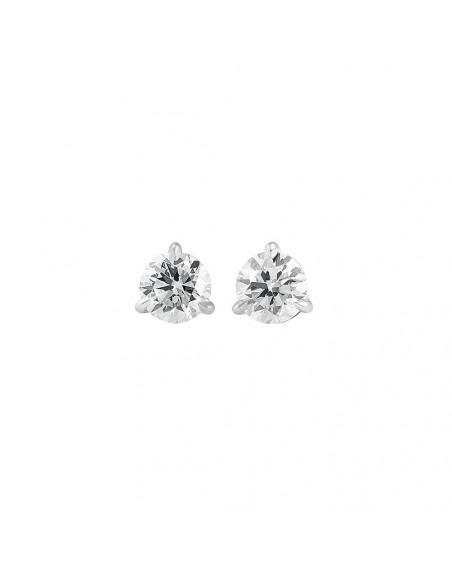 Puces or gris diamants 0,50ct GSI