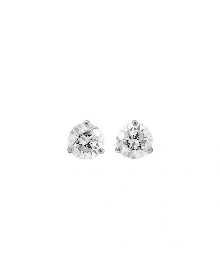 Puces d'oreille or gris diamants 0,80ct GSI