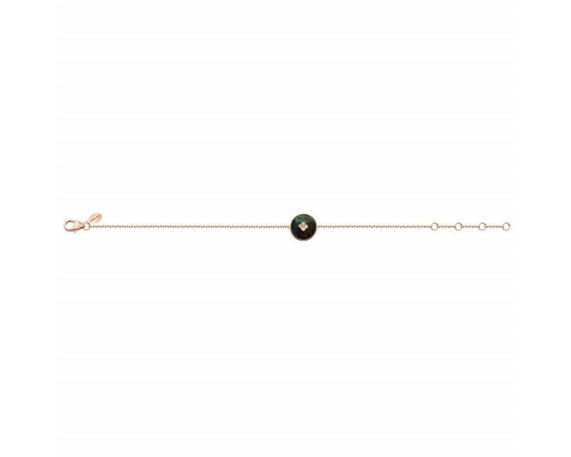 Bracelet Or rose  pastille azurite diamants