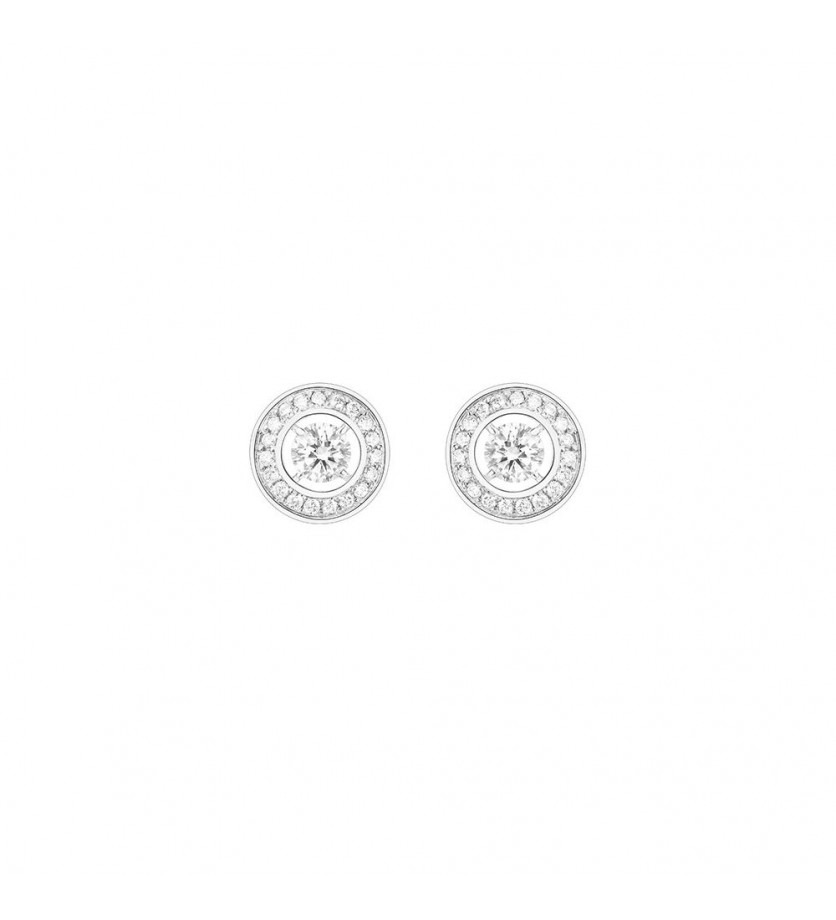 BOUCHERON Puces d'oreilles Ava or blanc diamants 2x 0,20ct DVVS1 certificats GIA