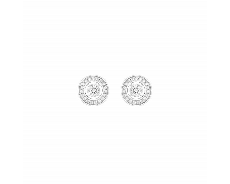 Puces d'oreille Ava or blanc diamants