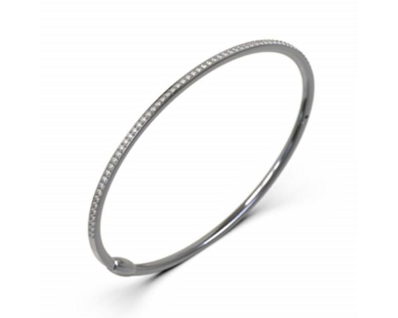 FROJO Bracelet jonc or rose diamants 0,65ct GSI