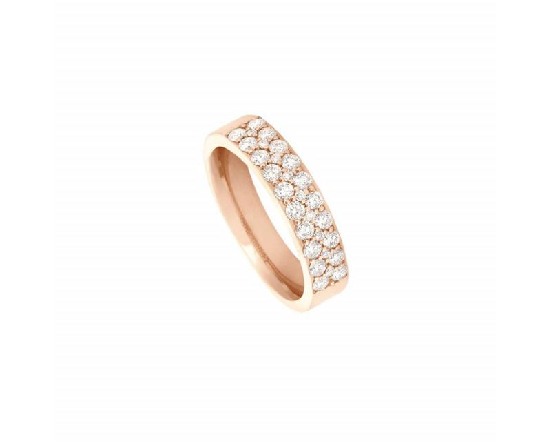 FROJO Bague or rose PM 2 rangs diamants 0,7ct GSI