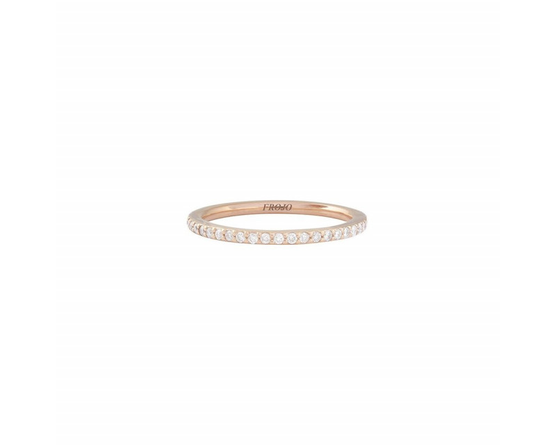 Alliance tour complet or rose diamants 0,40ct