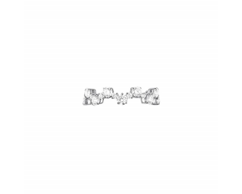 Alliance or gris diamants 1,70ct GSI