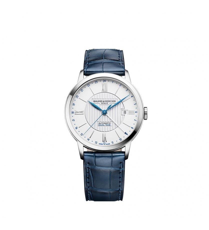 Montre Classima 10272 40mm Automatique Acier Bracelet Alligator Bleu