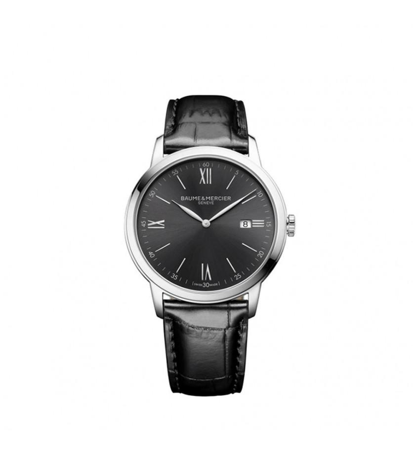 Montre Classima 10416 42mm Quartz Acier Bracelet Veau noir Cadran Ardoise