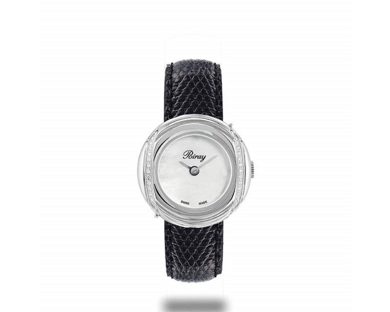 Montre Rive Droite Mini Quartz Acier et diamants