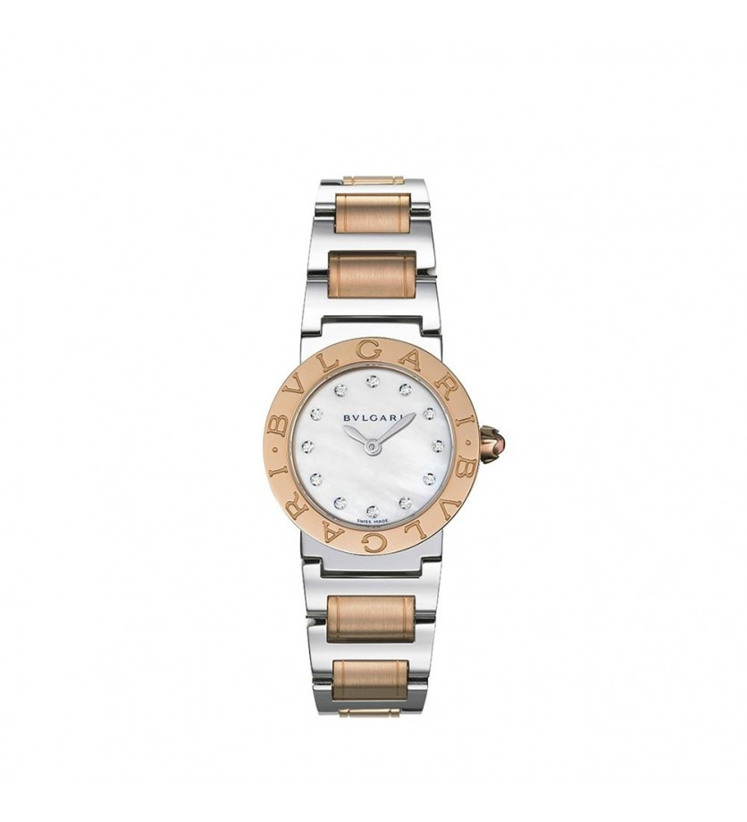 Montre Bulgari PM Quartz Or rose, Acier et diamants