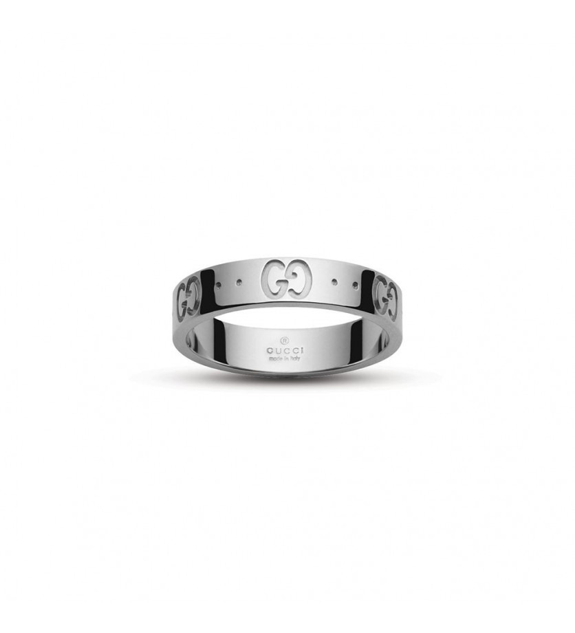 GUCCI Bague Icon or gris fine