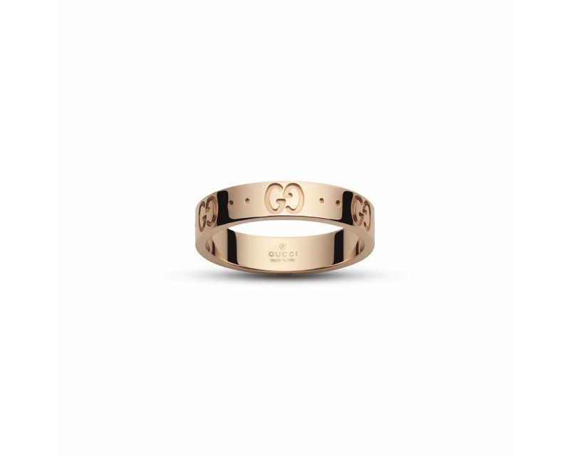 GUCCI Bague Icon or rose fine