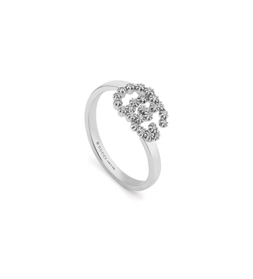 Bague Running G or gris diamants Taille M