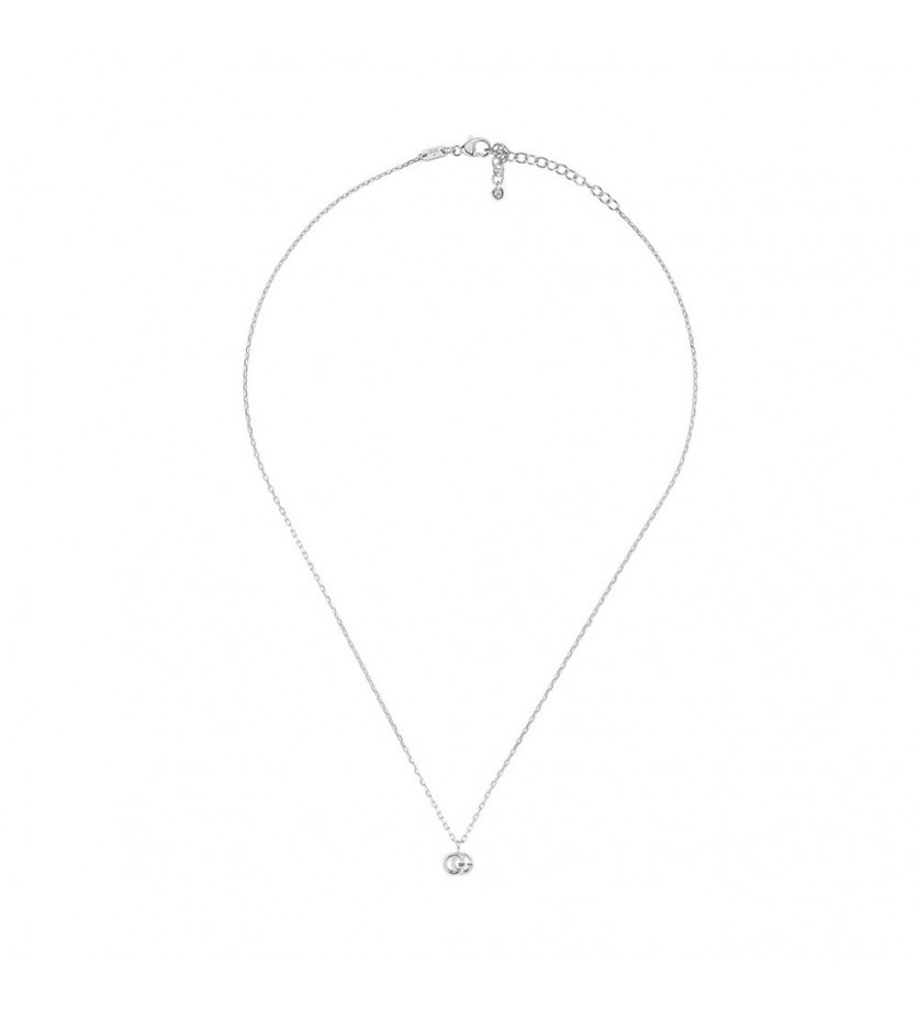 Collier Running G or gris diamant