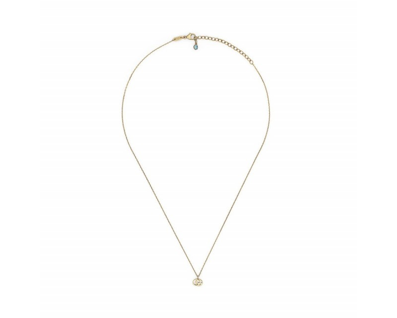 Collier Double G or jaune topaze