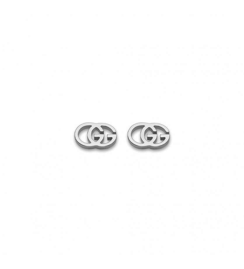 GUCCI Boucles d'oreille puces Running G or gris
