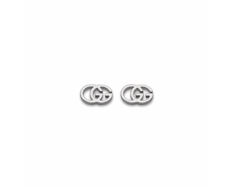 Boucles d'oreille puces Running G or gris