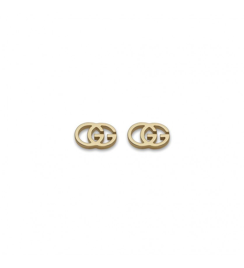 GUCCI Boucles d'oreille puces Running G or jaune