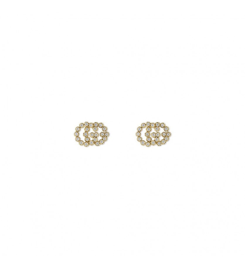 Puces d'oreille Running G or jaune diamants Taille M